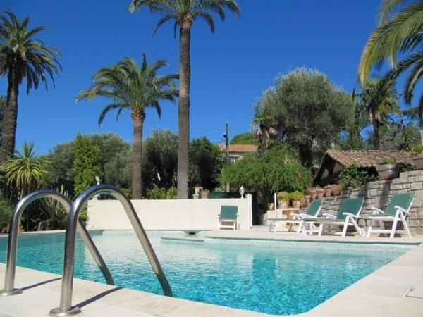 Swimming Pool - Excellent Palm Spring Villa in Cannes with Fireplace and Terrace - Cannes - rentals