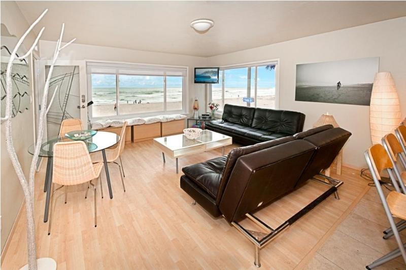 View from Unit 3 second floor 180 Degrees - Ocean Luxury #3 - Mission Beach - Pacific Beach - rentals