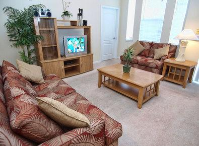 Living Room with TV provided - Cane Island Retreat - Kissimmee - rentals