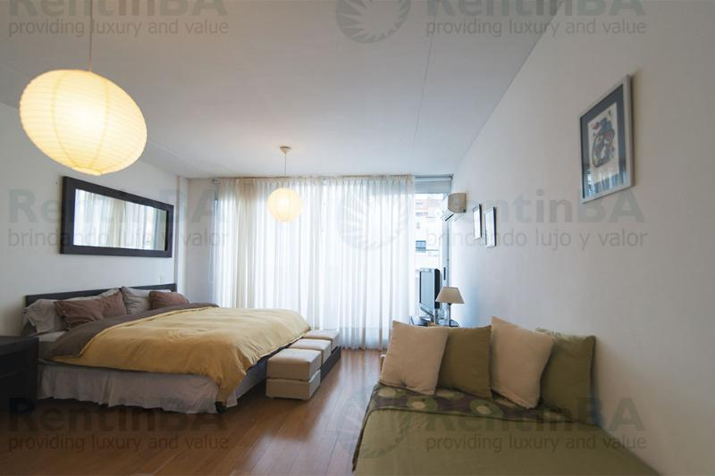Modern Hotel-Style Studio on 8th Floor with Balcony (ID#84) - Image 1 - Buenos Aires - rentals