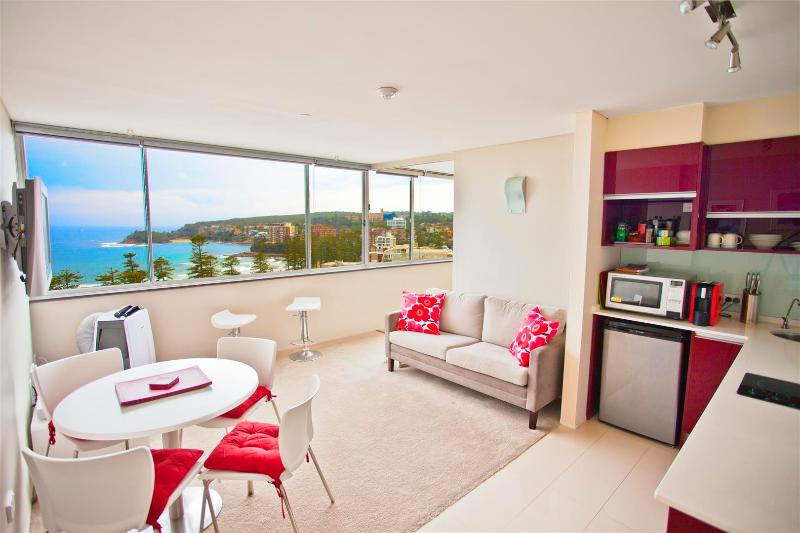 Immediate panoramic views from the entry door of the apartment - Sydney Condo with World Famous Manly Beach Views - Manly - rentals