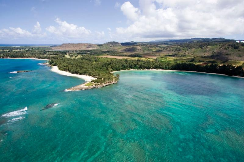 Aerial shot of nearby Kawela Bay & Turtle Bay - Gorgeous Turtle Bay Condo  - Closest to Beach! - Haleiwa - rentals