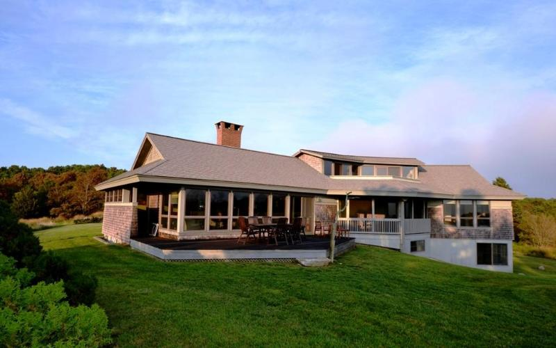 Front  of House - Stunning Multi-Generational 5 BR Ocean View Home! - Chilmark - rentals