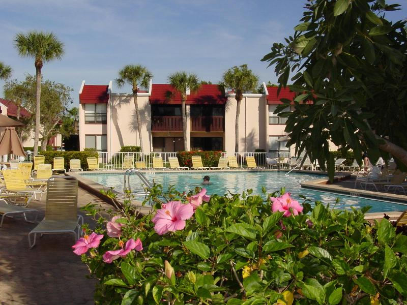 Large, heated pool, just steps from the unit. - Relaxed Old Florida Lifestyle- Runaway Bay 162 - Bradenton Beach - rentals