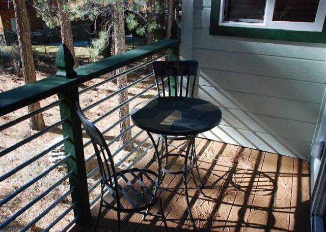 Seating on deck off Master Bedroom - Wonderfully remodeled A Frame grows up! - South Lake Tahoe - rentals