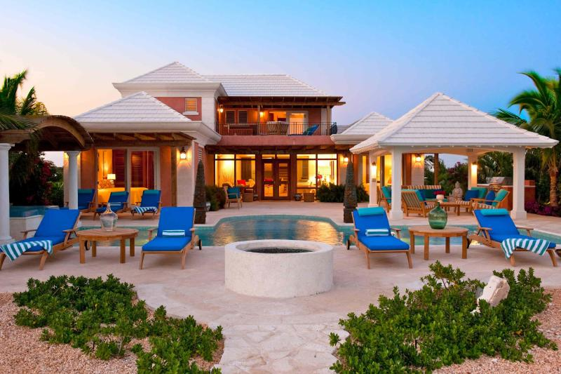Villa La Percha at sunset - Private Paradise Just Steps to the Beach - Providenciales - rentals