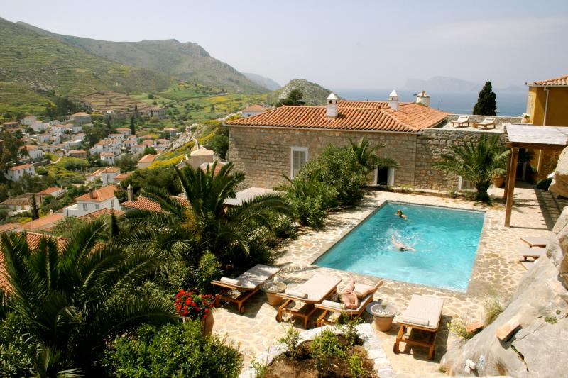 Luxury 6 bedroom Hydra villa pool stunning views - Image 1 - Hydra - rentals