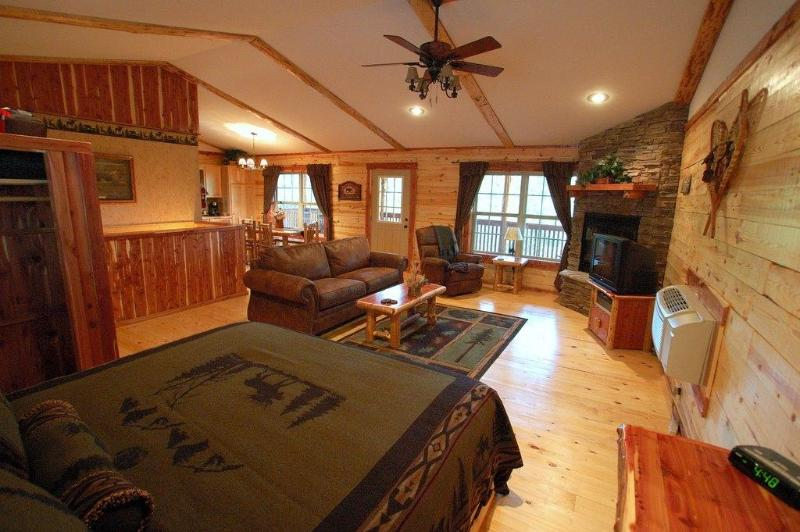 Rustic but contemporary charm! - Lake Forest Luxury Log Cabins Sleeps 2-10 people - Eureka Springs - rentals