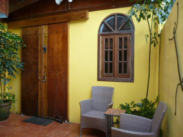 The sliding door to your bedroom. - 1st Floor Casita: Historic House: SJ Arts District - San Juan - rentals