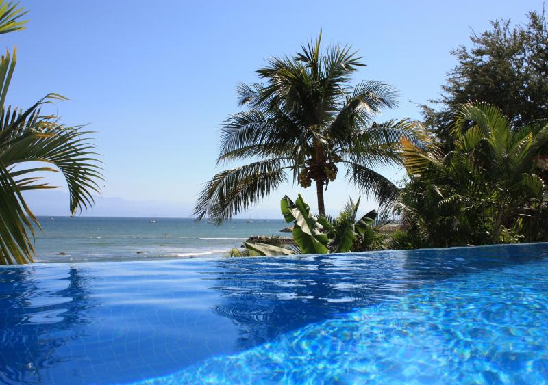 Casa Kaeli's incredible infinti pool! - Beachfront, Infiniti Pool, LaCruz/Bucerias - La Cruz de Huanacaxtle - rentals