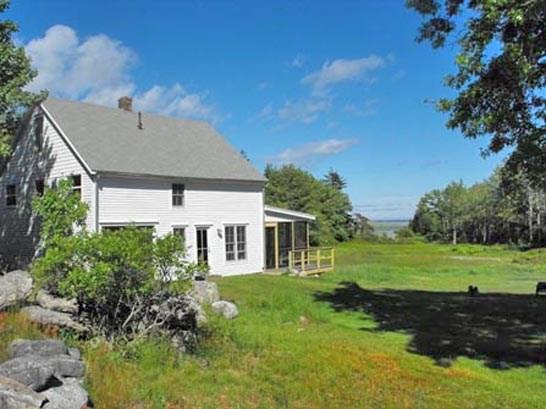 The barn is located in a field that was cleared more than 100 years ago and has distant views of the water - POPHAM BEACH BARN - Town of Phippsburg - Small Point - rentals