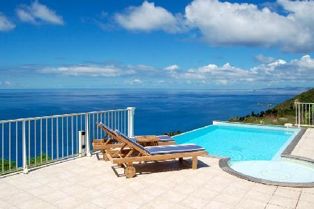 Villa Manon, stunning ocean views, terrace with jetted tub and housekeeping - Image 1 - Colombier - rentals