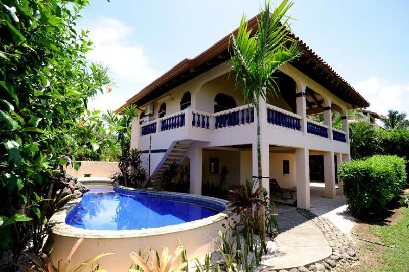 View from Ocean Side of Home - Casa Papaya con Leche beach front home with pool - Playa Negra - rentals