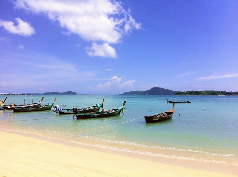 "Longtail Boats Moored at Rawai Beach - ""THE MOORINGS"" Coconut Paradise Beach Front Rooms! - Rawai - rentals"