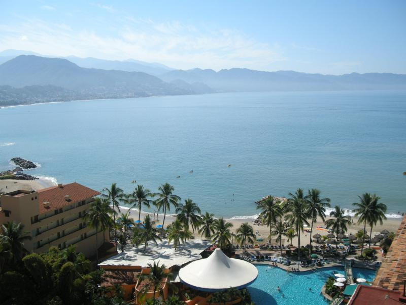 View of Banderas Bay from the balcony - *14th Floor Oceanfront Condo - Newly Remodeled!!* - Puerto Vallarta - rentals