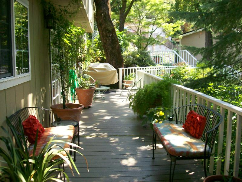 Entry deck - BJ's Nest, Garden Studio,w/Hot Tub 15%  in April - Napa - rentals
