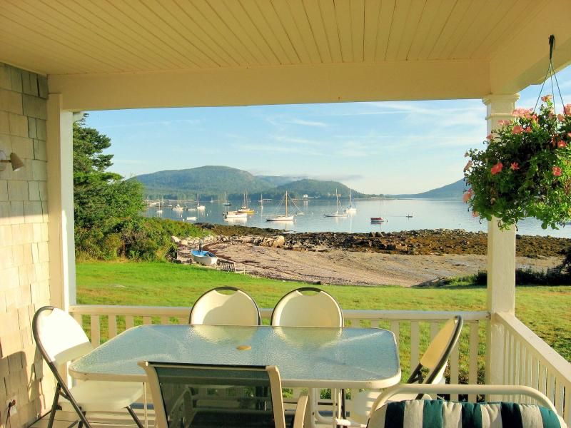 view to north from our porch - Lawrence Ledges: on shore overlooking Acadia  Pk - Southwest Harbor - rentals
