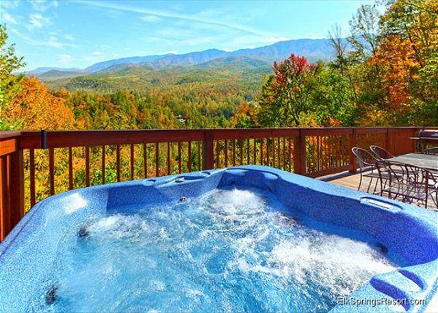 A Postcard View of the Mountains from this 2 Bed 2 Bath 2 Jacuzzi Cabin - Image 1 - Gatlinburg - rentals