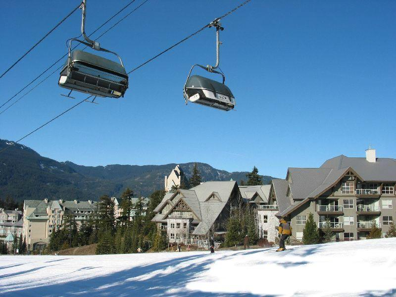 View of actual condos on right of picture - The Aspens at Whistler- True Slopeside Condos - Whistler - rentals