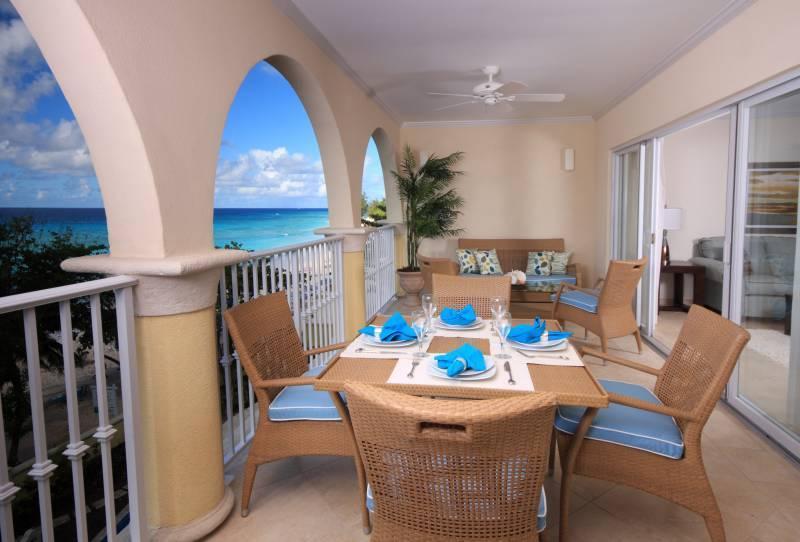 Sapphire Balcony View - Sapphire Beach Barbados - 2013 Top Vacation Rental - Dover - rentals