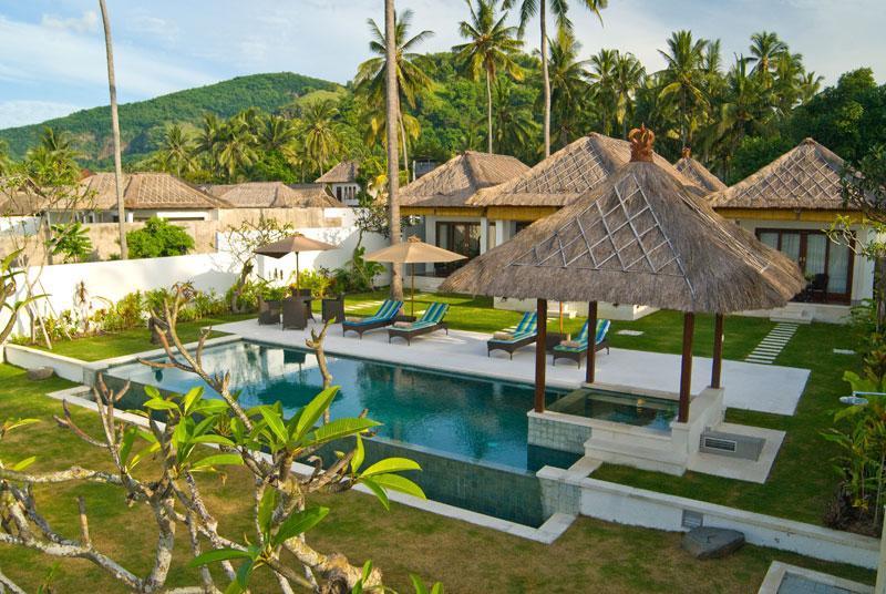 Ocean Front Villa at Candi dasa Bali - Spectacular 3BR ocean front villa, Candidasa Bali - Candidasa - rentals