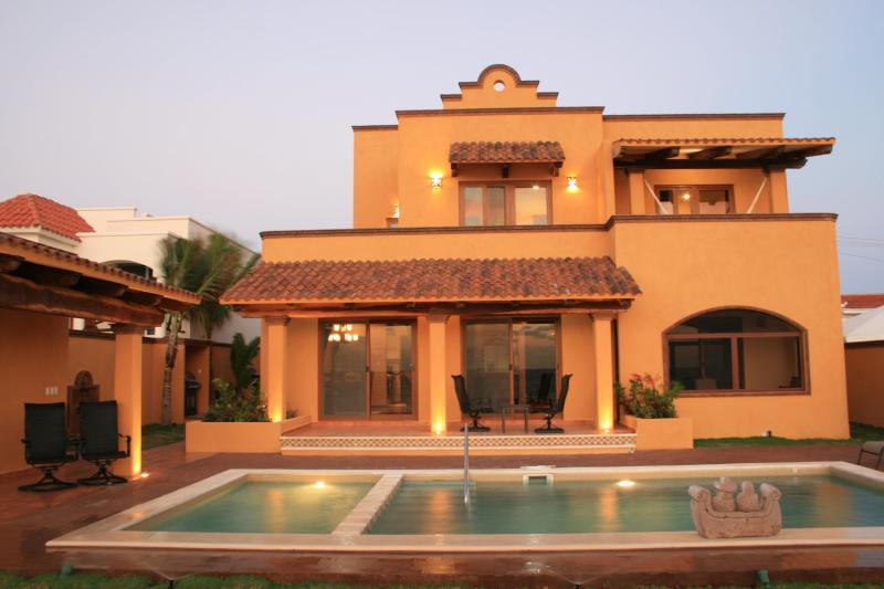 Villa Mango Sunrise: view from beach - New Beachfront 5BR/5BA Luxury Home near Cancun - Puerto Morelos - rentals