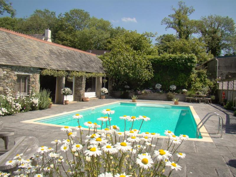 Lovely Outdoor Heated Swimming Pool - Pippin Cottage, Lantallack Getaway - Stunning View - Saltash - rentals