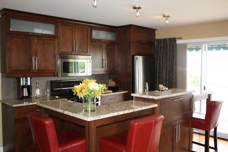 Kitchen - Four-Star Hotel-Apartment with River view - Quebec City - rentals