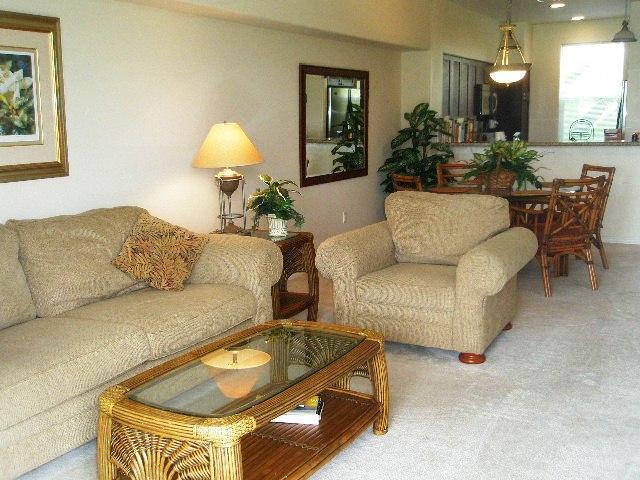 Living-Room - Waikoloa Beach Resort Fairway Villas Unit I-22 - Waikoloa - rentals