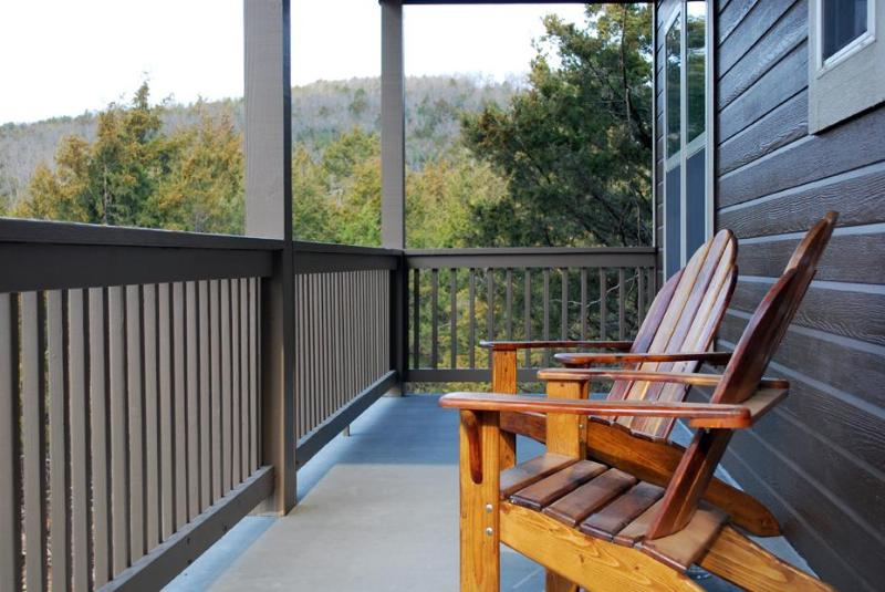 Handmade Adirondack chairs with a view of the Ozarks - Nature's Retreat - AWARD WINNER - ALL King beds - Branson - rentals