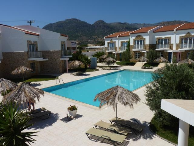 Pool view from the kitchen balcony - Grapevines Villas - Luxury Villa superb location - Makry-Gialos - rentals