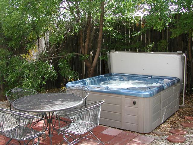 Private hot tub and patio dining - Casa Panorama 2 Bedroom - Taos - rentals