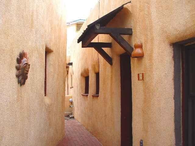 Entry gate into complex - Padre Martinez - Taos - rentals