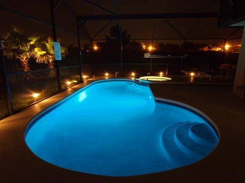 pool at night - RATED EXCELLENT & TOP VACATION RENTAL 2011,12 & 13 - Davenport - rentals