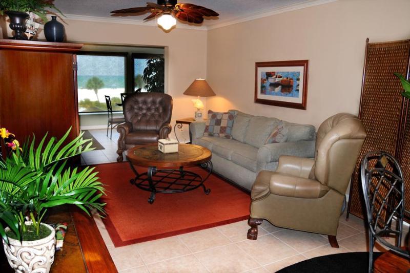 Living Area - Luxury Oceanfront Siesta Beach Condo #304 - Siesta Key - rentals