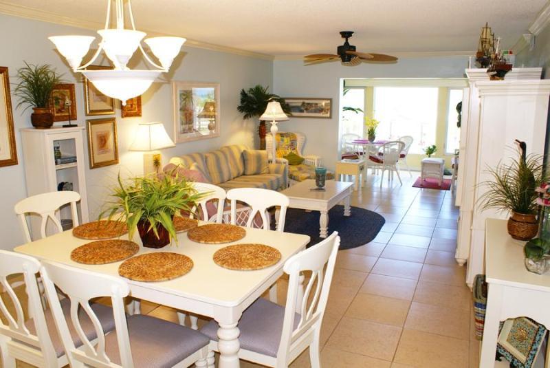 Dining Area to Lanai - Modern Oceanfront Condo Siesta Beach #212 - Siesta Key - rentals