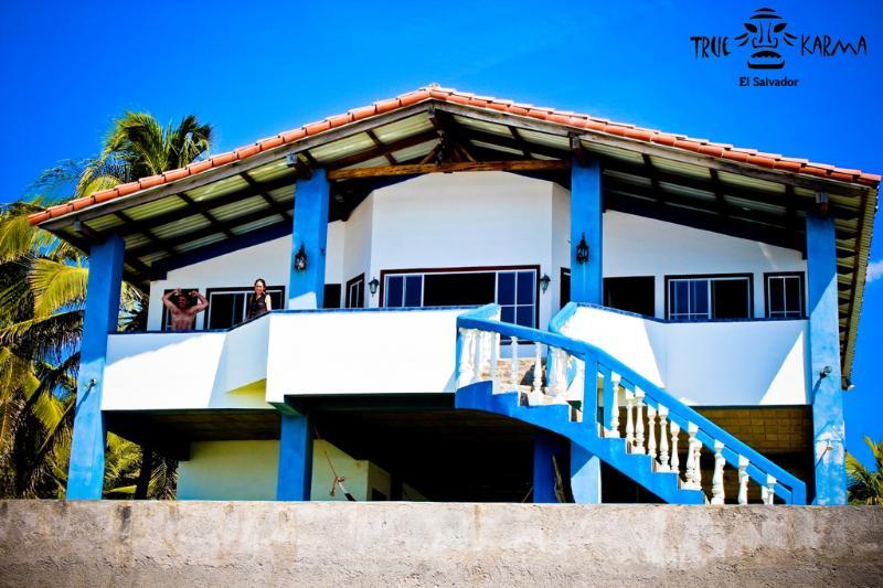 Beach view of the house - True Karma Beach House - San Luis Talpa - rentals