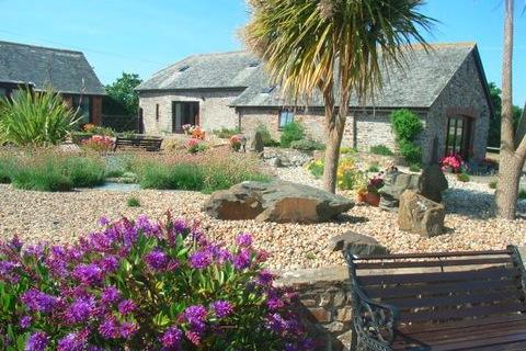 ACROSS THE COURTYARD TOWARDS JASMINE - Jasmine Cottage, Ocean Views in North Devon - Bideford - rentals