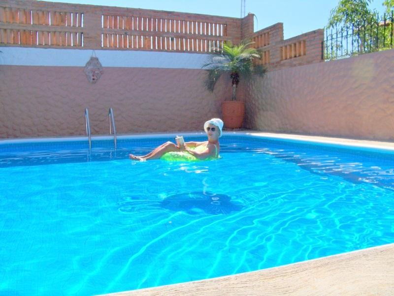 Our large sparkling pool, 3 ft deep each end, 6 ft in middle, has daily care . - 2 Bdrm Villa, Pool, Walk to Beach, Glorious Sunset - La Peaita de Jaltemba - rentals