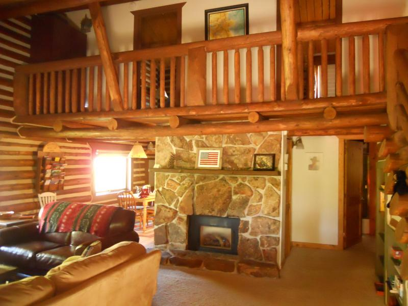 Fireplace - Charming Log Cabin w/Hot Tub, Deck, Ping Pong,Wifi - Winter Park - rentals