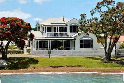 The Holiday Home from the water.  Safe swimming almost at your doorstep or catch fish for dinner. - Russell Waterfront Holiday Home. A Must visit site - Russell - rentals