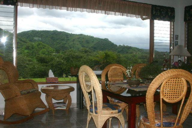 dining room and picture window - Splendid Home in Costa Rica's Best Climate - Province of Alajuela - rentals