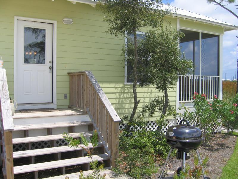 Front Door and peek at the screened in porch - Come away to a quiet place and rest! - Gulf Shores - rentals