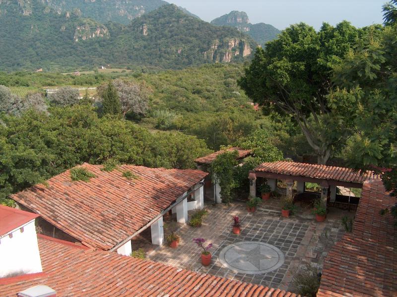 Patio & Mountain Overview - Hacienda Clemente Jacques - Tepoztlan - rentals