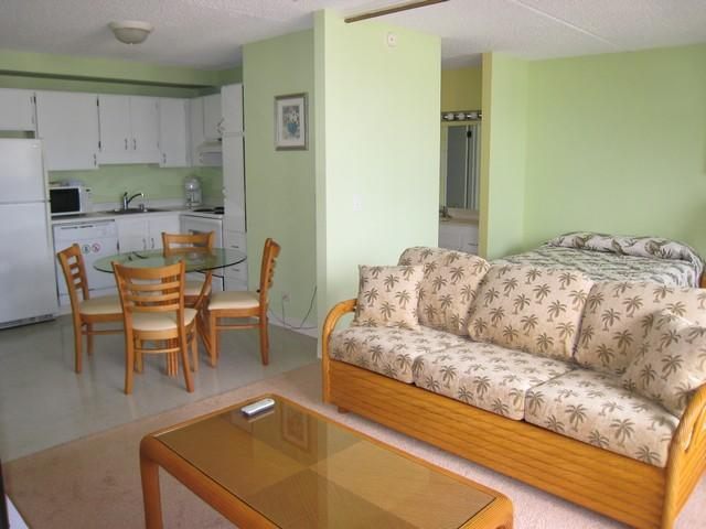 Living Room - 1BR 1BA Fully Furnished Condo - Honolulu - rentals