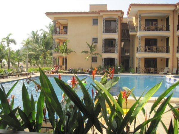 Pool view from condo - Bahia Encantada Ocean Front 2 Bedroom condo - Jaco - rentals