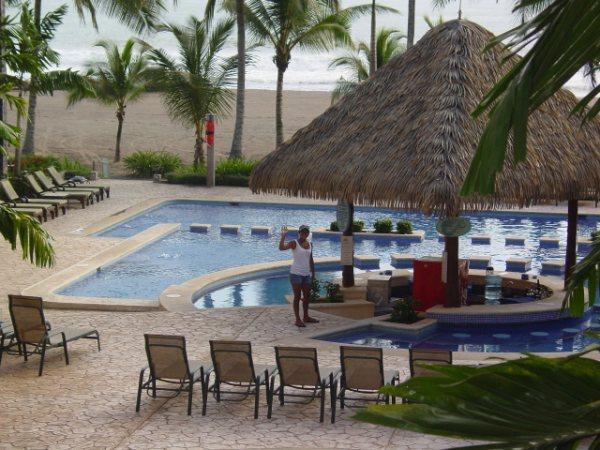 Pool view from condo - Bahia Encantada Ocean Front 3 BR Condo - Jaco - rentals