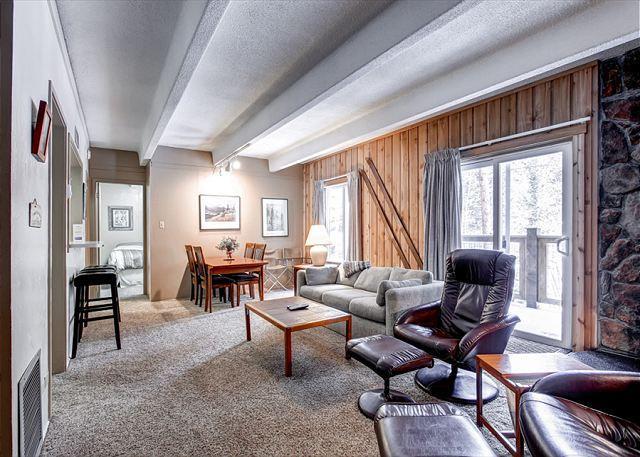 Columbine Condo Living Room Breckenridge Lodging - Columbine 206 Condo Downtown Breckenridge Colorado Vacation - Breckenridge - rentals