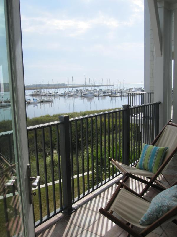 View from the Master Bedroom Balcony - St Simons Island WaterfrontCondo-Ideal for Boaters - Saint Simons Island - rentals