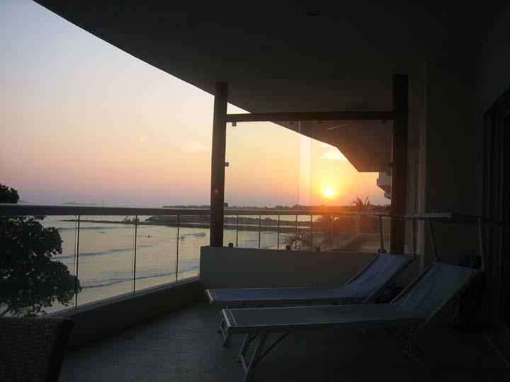 Sunset from private terrace - Beautiful 1 BR Condo on the Beach in Punta Mita - Punta de Mita - rentals